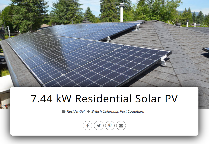 Residential Solar Systems in Greater Vancouver - Port Coquitlam