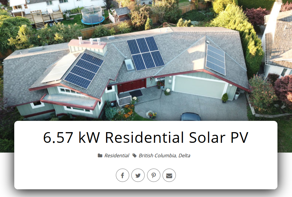 Residential Solar Systems in Greater Vancouver - Delta