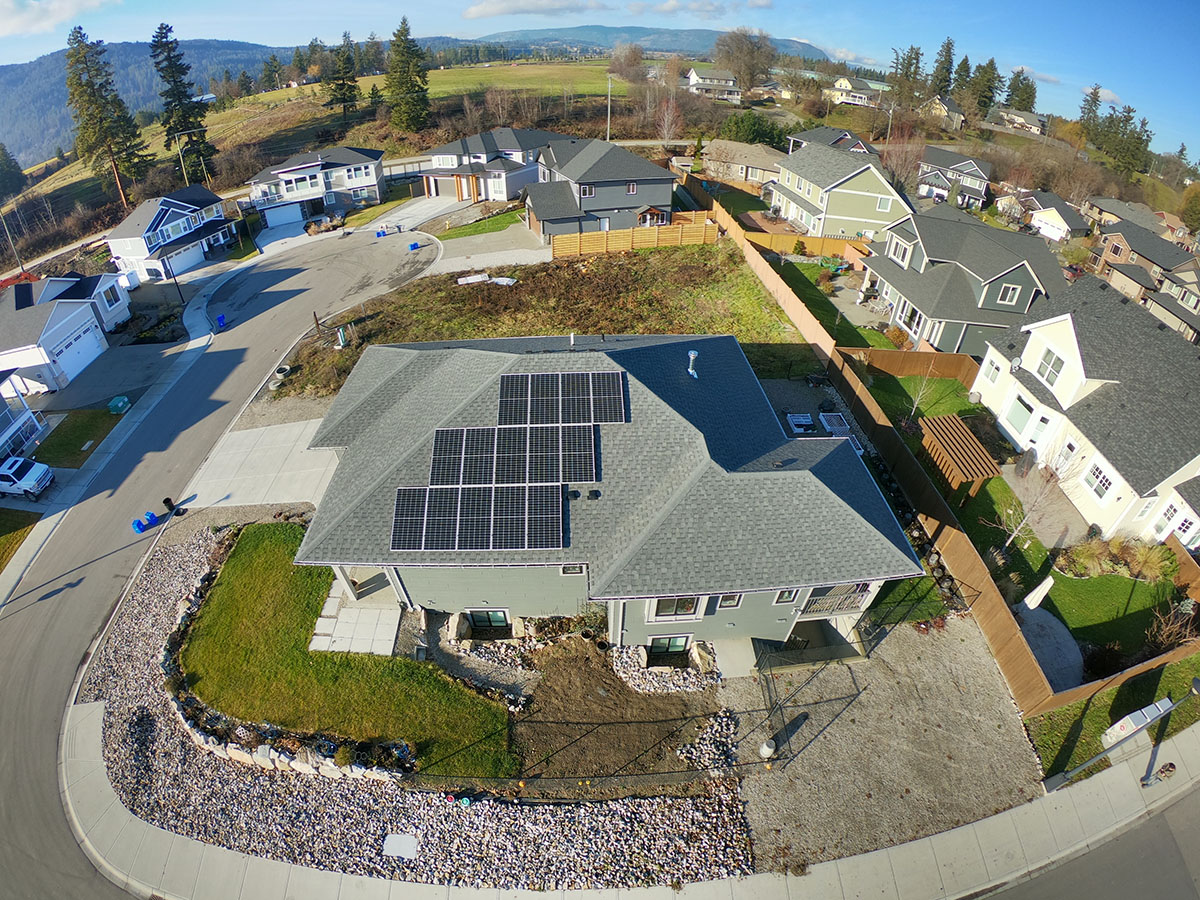 Residential Solar PV in Armstrong BC by Empower Energy