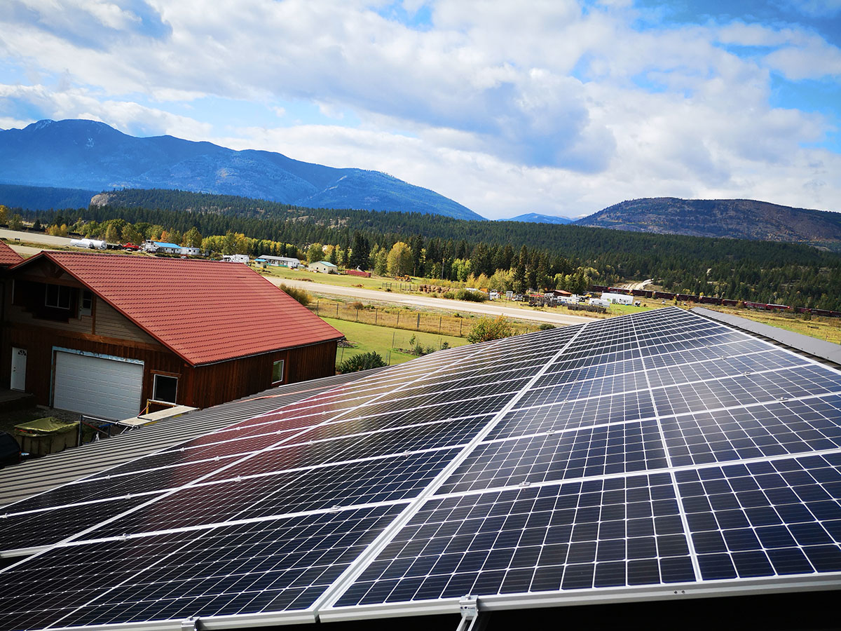 Residential Solar PV in Fairmont Hot Springs by Empower Energy